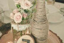bryllup Vintage Burlap Lace