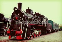 Black vintage locomotive