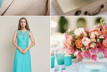 Tiffany blue and Pink Wedding / https://www.etsy.com/uk/listing/534033351/personalised-gift-wedding-guest-book