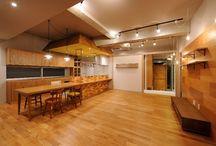 """Renovation Re.017 / LSD design co., ltd.""""Renovation Re.017""""_2013_renovating_Okinawa, Japan_interior design_Old material_oldwood_DIY_old homes_ideas_kitchen_Veneer_wall design"""
