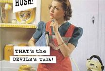 1950s housewife / fashion and quotes