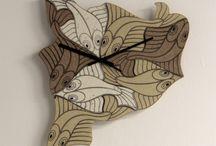 """Интерьерные часы /  """"Рыбы"""",интерьерные часы из акрилового искусственного камня."""
