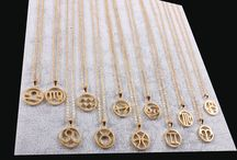 Zodiac Necklaces / New trending Zodiac necklaces. Aries, Taurus, Gemini, Cancer, Leo, Virgo, Libra, Scorpio, Sagittarius, Capricorn, Aquarius and Pisces