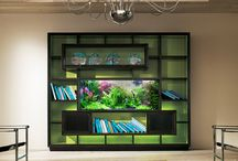aqua bookshelf