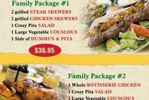 Crazy Pita Promotions & Specials / Crazy Pita fresh Mediterranean Grill promotions and specials