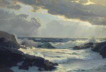 watercolour sea paintings