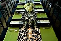 Black & Lime Green Wedding Decor
