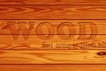 Wood carving text in photoshop