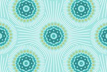 Fabric - Duck Egg Blue and Turquoize