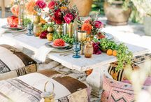 Moroccan Tablescape / Moroccan tables are so beautiful with all the colours and flickering candles