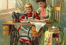 Sewing machines / Old style treadle sewing machines and the like