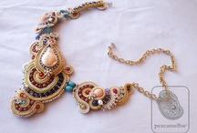 necklace Textile Jewelry / necklace soutache Jewels