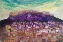 acropolis painting