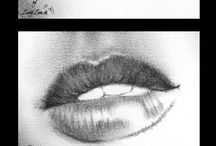 Lips sketches