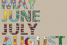 Cross stitch calendar project / by Donna Carlino