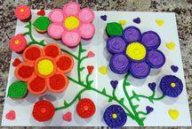 λουλουδια τουρτες