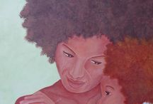 Mother and child paintings