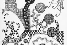 zentangles  / and all kinds of doodling / by Deborah Woo