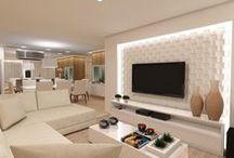 TVs painel com placa de gesso 3d
