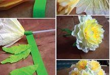 χαρτινα λουλουδια