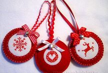 vyšivane vianočne ozdoby