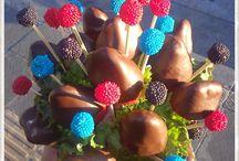 Chocolate & Berries ! / Postres de frutos rojos y arreglos frutales !