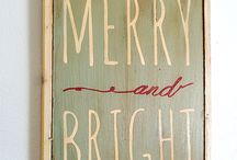 inspiration: Christmas signs