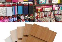 Card shop ideas / gift shop ideas / slatwallpanel ideas / gift shop shelving / retail shelving / glass display