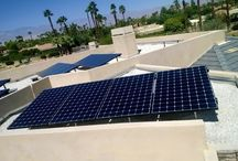Solar Electricity / These are pictures of residential or commercial solar electric systems.