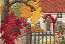 bordado  recto en  lana