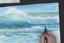 waves watercolors