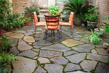 Patios with paving stones