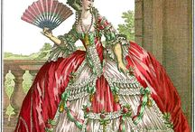 18th century Fashion Plates / Researching the many fashion plates of the Eighteenth Century. This is a bit of a mood board for me as it's really a collection of images to start designing a Carnival Costume from.