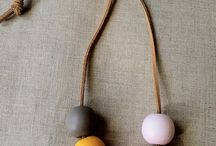 Wood bead necklaces