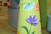 Pintura decorativa / La pintura decorativa la podemos aplicar en todos los soportes que se nos ocurran, piedras, conchas, cajas, marcos....