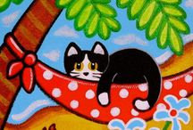 pinturas de gatitos