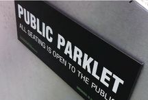 Parklet Signage / Find ideas for interesting signage on the blok parklet