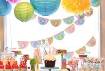 Mesa de Postres / Adorna tu Mesa de Postres, Pastel de Bodas y de tu Celebracion con detalles coloridos, Cálidos y Brillantes para Complementar tu Evento