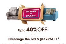 Exchange & Upgrade Offer / We at #HomeTown only want your space to look better than ever. So, we are launching the Exchange & Upgrade #offer, which lets you exchange your old furniture with new #HomeTown furniture at a whopping 25% discount! What are you waiting for? #BadalDalo!