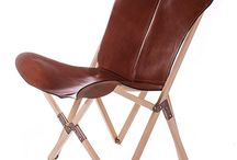 Palermo leather chair with wooden frame