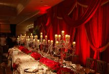 Dramatic Wedding and Event Designs / Dark, daring, over the top dramatic wedding and event design decorations inspiration.