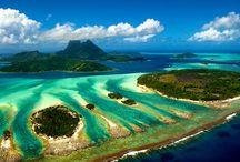 Insula Bora Bora / Dacă ne uităm spre Polinezia Franceză, descoperim Bora Bora, una dintre cele mai frumoase destinaţii exotice din lume!