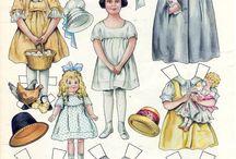 bonecas de papel