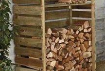 Krby Stoves log řádky ukládání dřeva