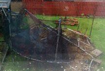 Wind Damaged Trampolines / You don't want this to be your trampoline - Terrible results of high winds picking up trampolines and landing them anywhere but home....