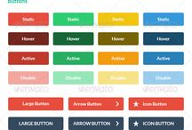 UI - Flat Style Designs / Flat style design ideas for web interfaces