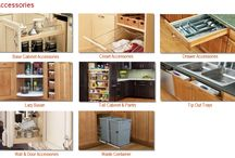 Cabinet Accessories / All of our cabinets can be easily customized inside. Come see for yourself the wide range of accessories we offer for our cabinets.