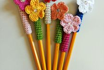 Pencil decorated with flowers