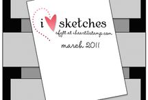 Card sketches - I Heart Sketches / by Tania Brzovic