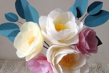 Crafted Paper Flowers / Paper flowers